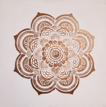 Mandala Bronz 40×402